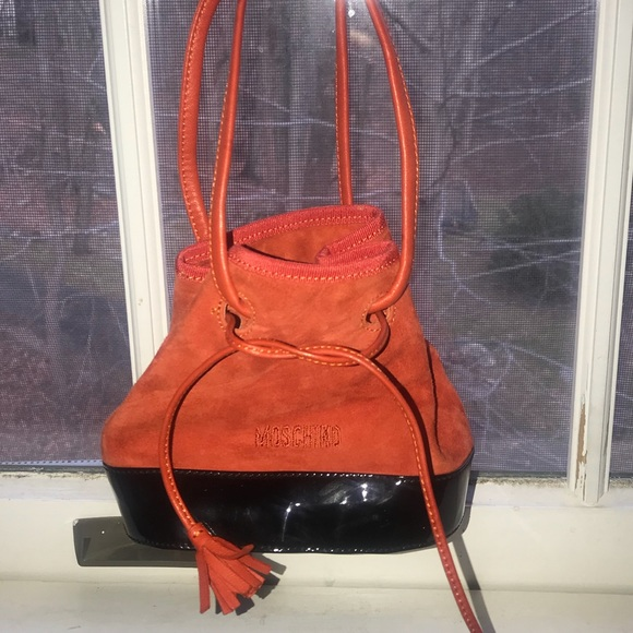 95f7fdc0617 Mini Vintage Moschino Suede&Leather Handbag. M_5c3a55a4619745676601fdb9